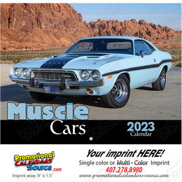 Muscle Cars Promotional Calendar 2018 - Stapled