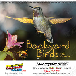 Backyard Birds Wall Calendar 2018 Spiral