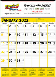 Commercial Planner Promotional Calendar 2018 Yellow & Black