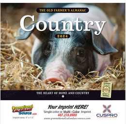 Country The Old Farmer's Almanac Calendar Stapled