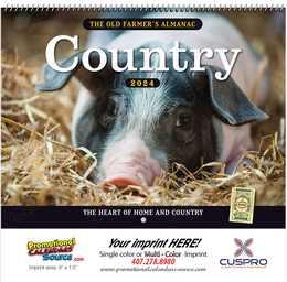 The Old Farmer's Almanac Country Calendar - Spiral