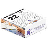 Desk Cube Calendar 4-Color Side & Page Ad Copy - 3 Months on Page