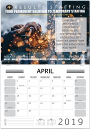 Custom Single photo wall calendar stapled pad 11x17