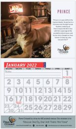 Custom Wall Calendar Full Color Imprint, Large Grid Numbers, Stapled Binding, 13 Full Color Images, Drop Ad Copy