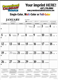 Black & White Contractor Wall Calendar 2018 18 x 24