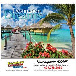 Destination Dreams Promotional Wall Calendar 2018 Spiral