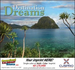 Destination Dreams Promotional Calendar 2018 - Stapled