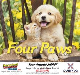 Four Paws Promotional Calendar 2018 - Stapled