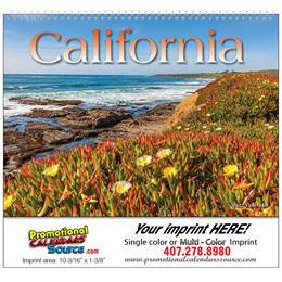 State of California Wall Calendar 2017 - Spiral