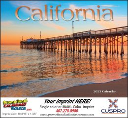 California Promotional Calendar 2017 - Stapled