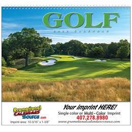 Golf Wall Calendar 2018 - Spiral