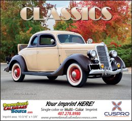 Automotive Classics Promotional Calendar 2018 Stapled