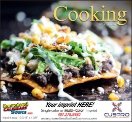 A Taste of Cooking Promotional Calendar 2017 Stapled