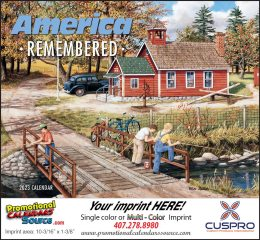 America Remembered Promotional Calendar 2018 Stapled