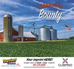 America's Bounty Promotional Wall Calendar 2018 Stapled