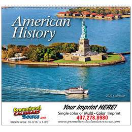 Great Symbols of American History Promotional Calendar 2017 Spiral