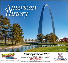 Great Symbols of American History Wall Calendar 2017 Stapled