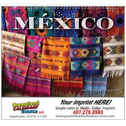 Mexico Promotional Wall Calendar 2018 Spiral