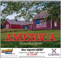 America Wall Calendar 2018 - Spiral
