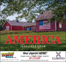 America Promotional Calendar 2018 - Stapled