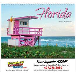 State of Florida Promotional Wall Calendar 2017 Spiral