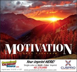 Motivation Promotional Wall Calendar 2017 Stapled
