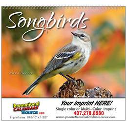 Nature's Songbirds Promotional Calendar 2018 Spiral