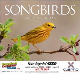 Nature's Songbirds Promotional Calendar 2018 Stapled