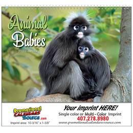 Animal Babies Promotional Calendar 2018 - Spiral