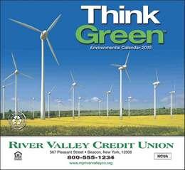 Think Green Promotional Calendar 2018 Stapled