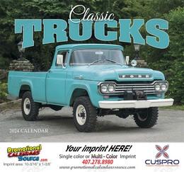 Classic Trucks Promotional Calendar 2018 Stapled