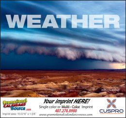 Weather Almanac Promotional Calendar 2018 Stapled