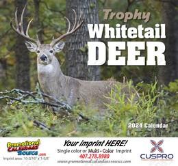 Whitetail Deer Wall Calendar 2018 Stapled