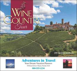 Wine Country Tour Promotional Calendar 2017 - Stapled