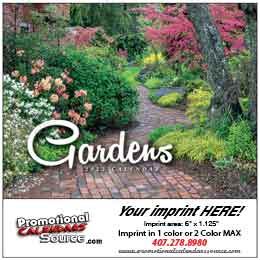 Gardens Mini  Promotional Wall Calendar 2017