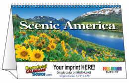 Scenic Desk Tent Calendar 2018