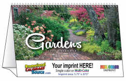 Gardens Promotional Desk Tent Calendar 2018