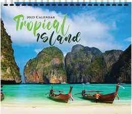 Tropical Island Scenic Calendar 2018