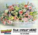Floral Arrangement Promotional Calendar