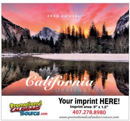 Destination California Scenic Calendar