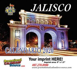 Jalisco Promotional Calendar 2018 Calendario