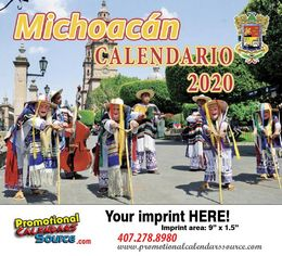 Michoacan Promotional Calendar 2018 Calendario