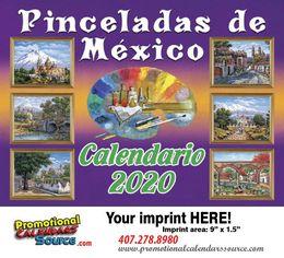 Pinceladas De Mexico Promotional Calendar 2017 Calendario