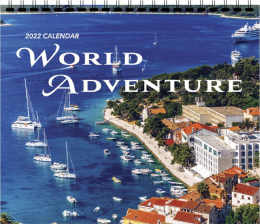 World Adventure 3 Mont View Promotional Calendar 2017 13.5 x 25.5