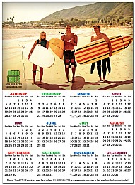 Calendar Magnet 8x11 Square Corners 25 mil.