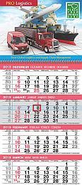 4-Month View Custom Calendar w Tear Off Grid 12x27