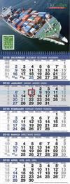 5-Month View Logistics Calendar Spiral Tear Off Pad 12x32