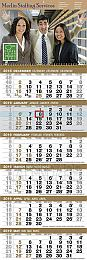 6-Month View Custom Promotional Calendar 12x36