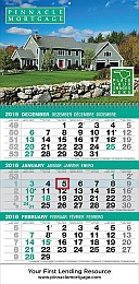 3-Month View Promotional Calendar Tear Off Pad & Drop Ad