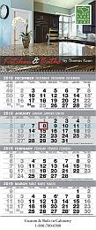 Custom 4-Month View Calendar, Promotional 12x29